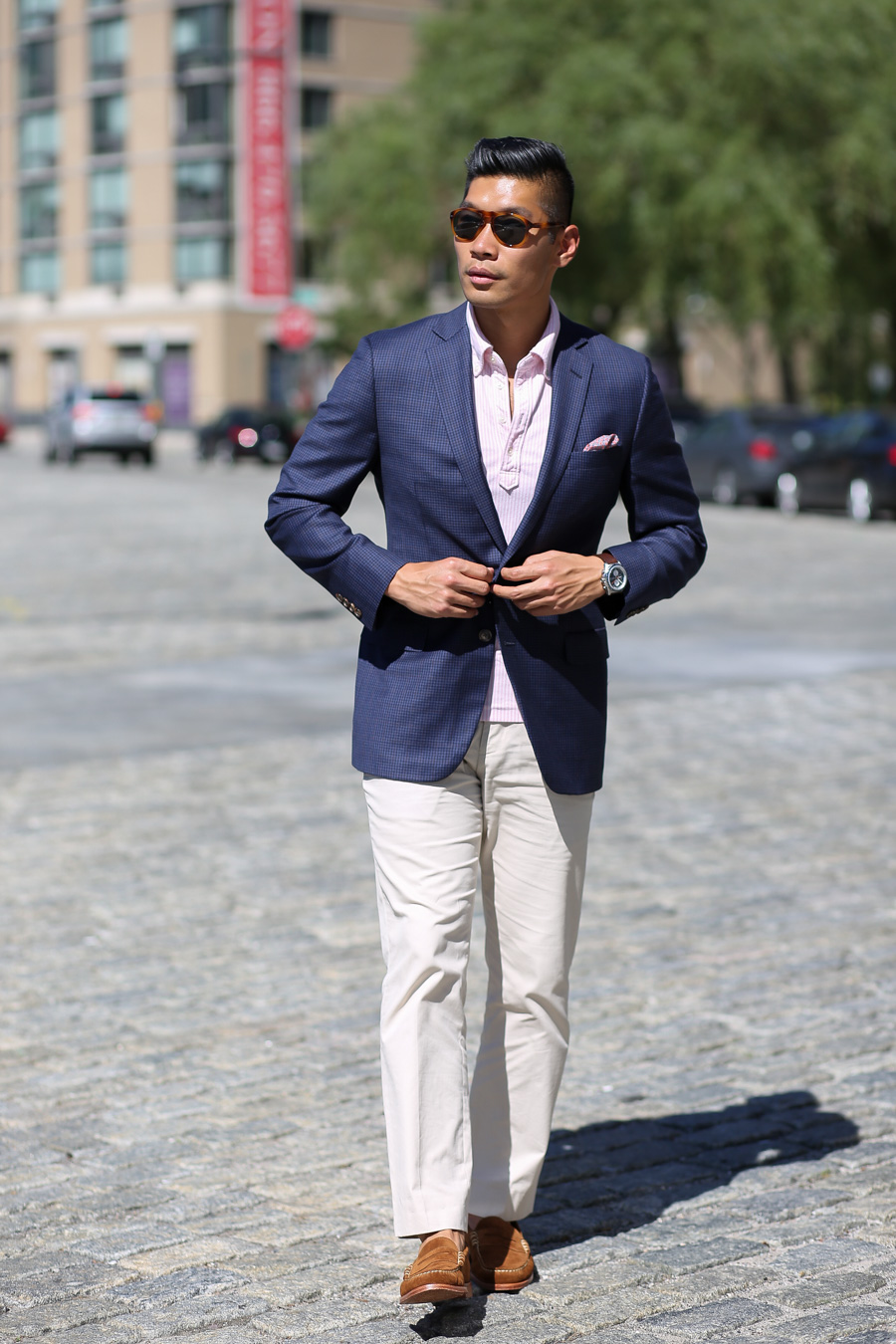 Levitate Style, Summer, Sharp Casual, Leo Chan, Gingham Blazer