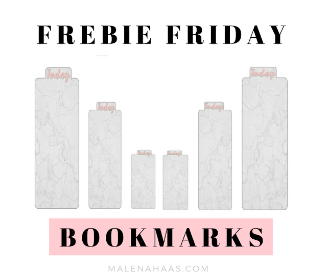 Free Marble Themed Bookmarks for Planner Agendas or Books