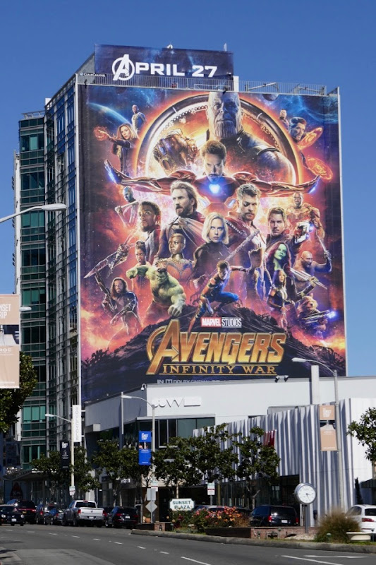Avengers Infinity War film billboard