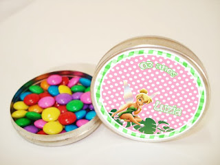 Tinker Bell Toppers or Free Printable Candy Bar Labels.
