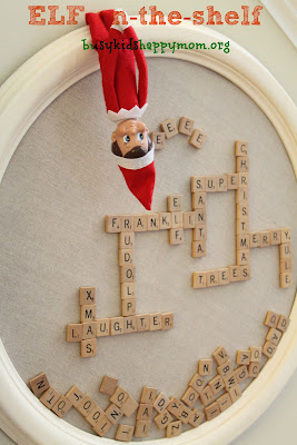 The elf used our magnetic scrabble board to send us some funny messages! Ideas for Christmas Fun with your Elf-on-the-Shelf