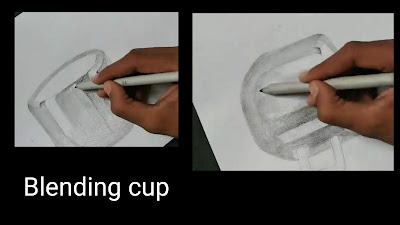Blending cup of steel of cup, how to draw cup,Drawing realistic steel cup drawing, how to draw cup, step by step tutorial of Cup , easy drawing for begginers, drawings for kids, graphite pencils drawing