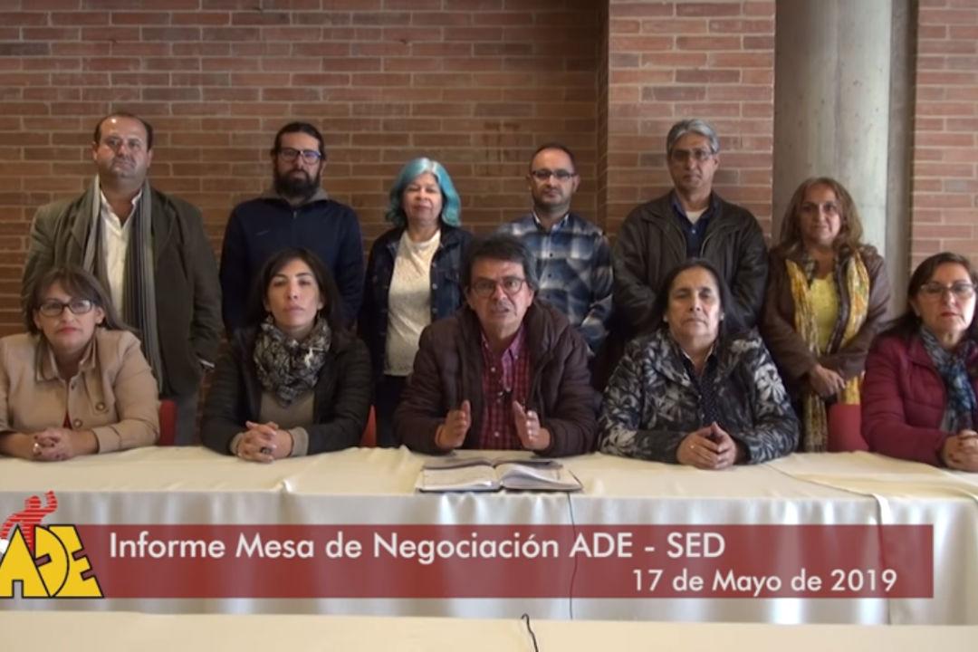 Informe Mesa de Negociación ADE - SED 17 de Mayo de 2019
