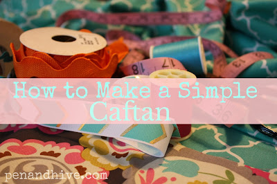 making a caftan