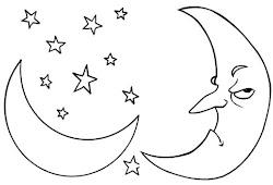 Catatanku Anak Desa Mewarnai Gambar Matahari Bulan Dan Bintang