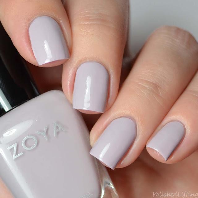 gray lavender nail polish