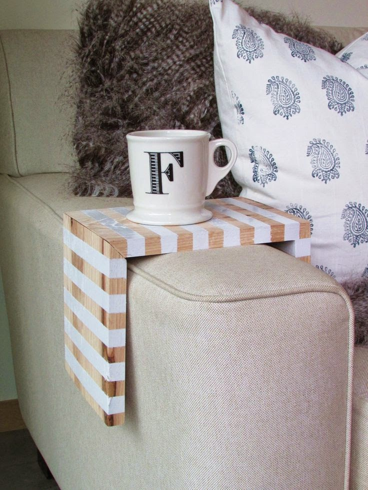 DIY Striped Sofa