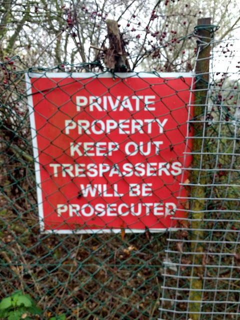 Private property, Cambridge, The Land South of Coldhams Lane, Psychogeography, Cherry Hinton, The Tins