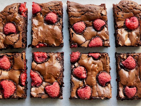 REZEPT: glutenfreie Himbeer-Brownies