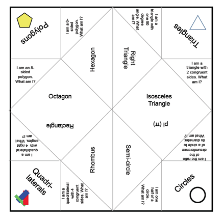 Download Geometry Fortune Teller If You Like This Activity Leave Me A Note And Let Know Id To Make Some That Are Bit More Focused