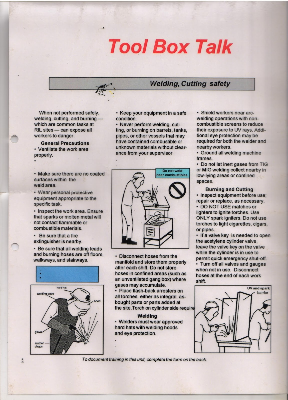 HEALTH AND SAFETY TOOLBOX TALKS PDF DOWNLOAD