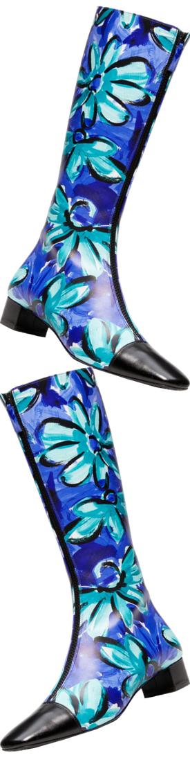 Michael Kors Collection Anita Daisy Calf Leather Boot