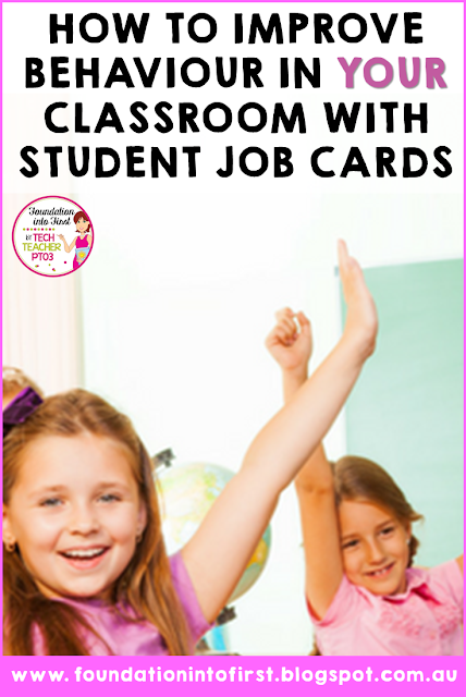 How to improve behaviour in your classroom with student job cards for the primary school teacher.
