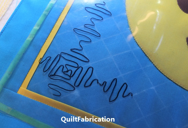 drawn out Structured Doodle Weave quilting