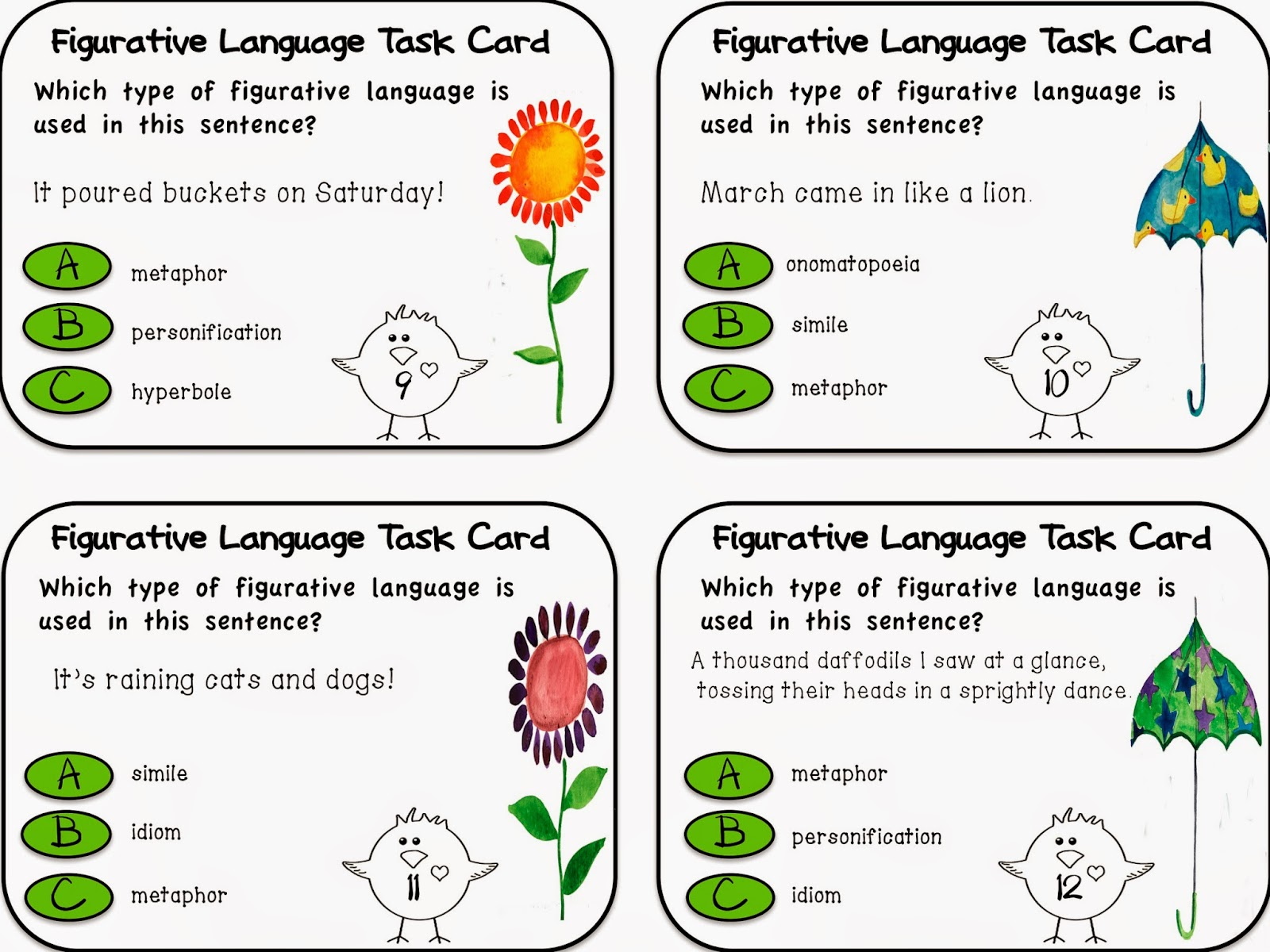 Free Worksheets For 5th Grade Figurative Language