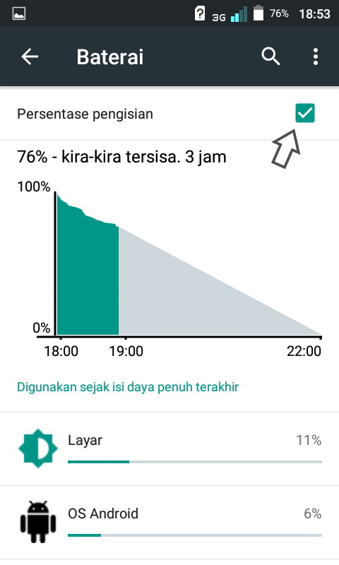 gambar gambar tampilan persentase baterai hp android