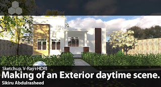 Making of an exterior daytime scene render