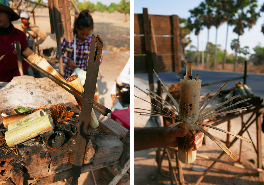 Euriental - roadside bamboo rice snack, Siem Reap, Cambodia
