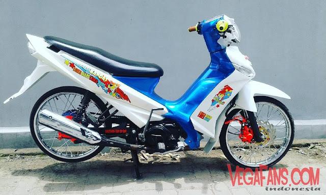 Vega ZR Modif Thailook Putih Standar