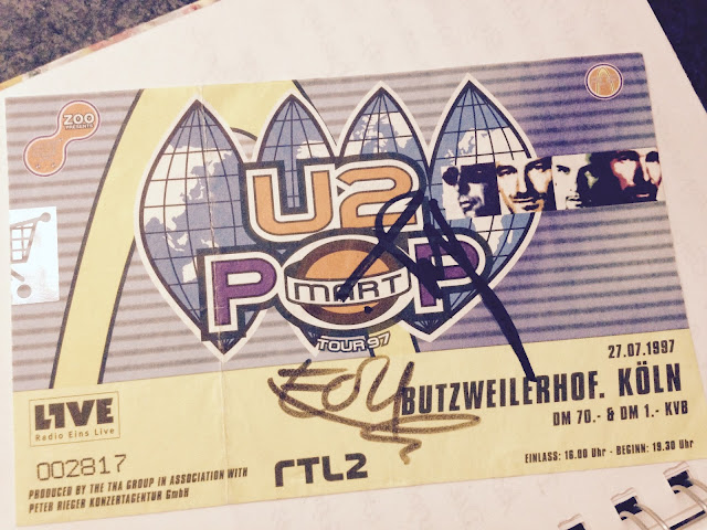 Pop-Mart Ticket mit Autogram