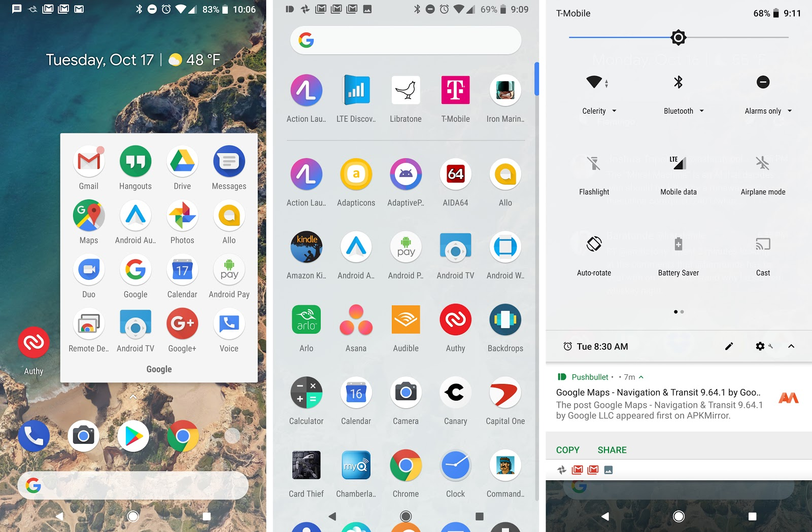 Google Pixel 2 Has Automatic Dark And Light Themes Based On Your