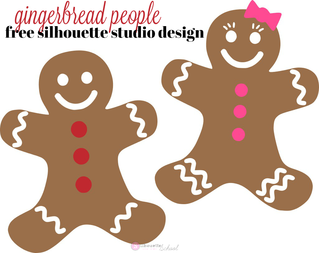 free gingerbread people silhouette studio designs silhouette school