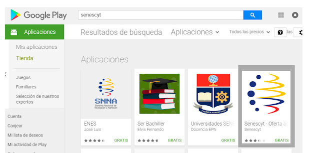 app senescyt play store