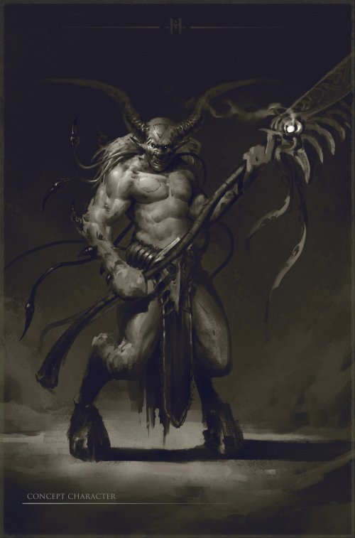 Maxim Max Kostin artstation arte ilustrações fantasia sombria terror