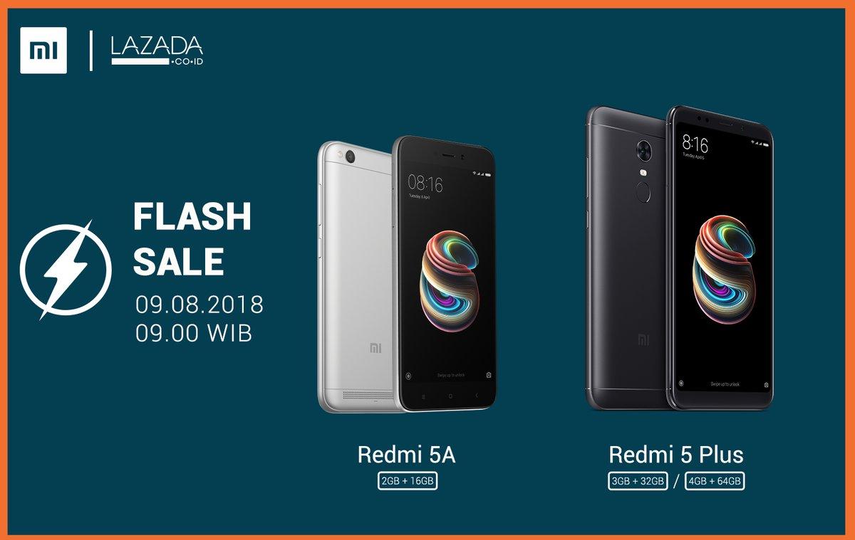 Lazada - Promo Flash Sale Xiaomi Redmi 5 & Redmi 5 Plus (09 Agustus 2018)
