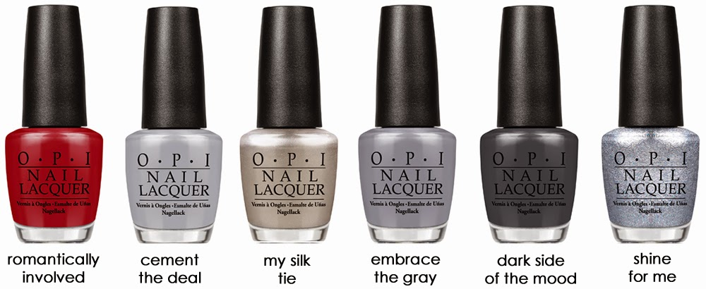OPI 50 Shades of Grey Quilted Nail Art