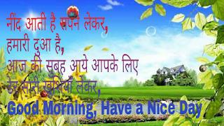 good morning shayri Hindi photos