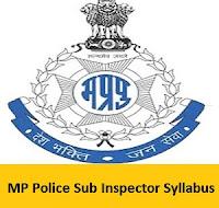MP Police Sub Inspector Syllabus