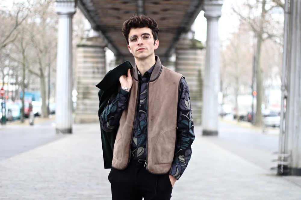 Blog-mode-style-homme-masculin-made-in-france-lunettes-vue-haut-de-gamme-gouv-au-gouverneur-audigier-argent-rondes-harris-wharf-london-jacket-marni-chemise-fleurs-churchs-leyton-bordeaux - 3