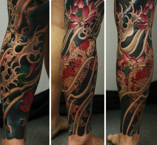 Peixes Japoneses Tatuagem