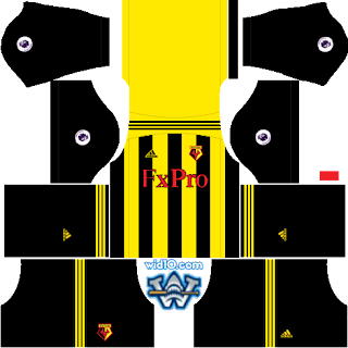 Watford dream league soccer kits, kit dream league soccer 2018 2019,premier league dls fts Kits and Logo Watford dream league soccer 2019,