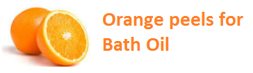 Orange peels for Bath Oil Oranges citrus fruit peel