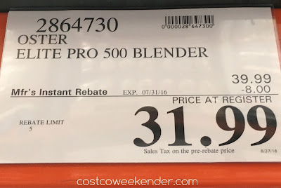 Deal for the Oster Elite Pro 500 Blender at Costco
