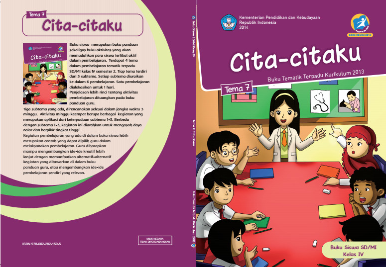 Download Buku Tematik Kurikulum 2013 SD/MI Kelas 4 Tema 7 Cita-citaku Edisi Revisi Format PDF