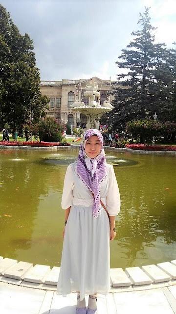 日本人ムスリマのトルコ風おしゃれ紫ヒジャブ