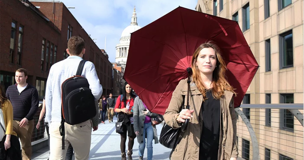The Kazbrella Inside-Out Umbrella