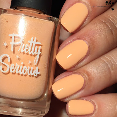 Peachie Poo nail polish swatch by different dimension