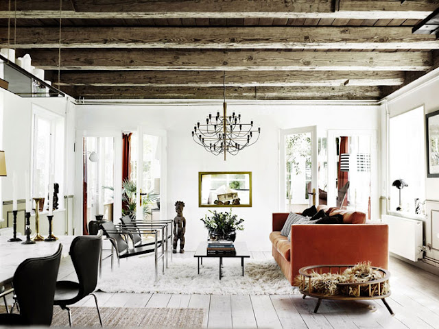 living rustic scandinav, contemporan