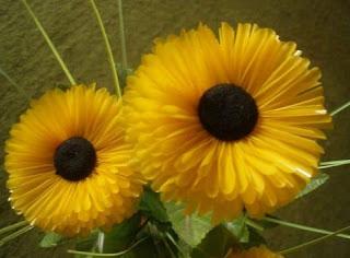 Cara Membuat Bunga matahari sedotan