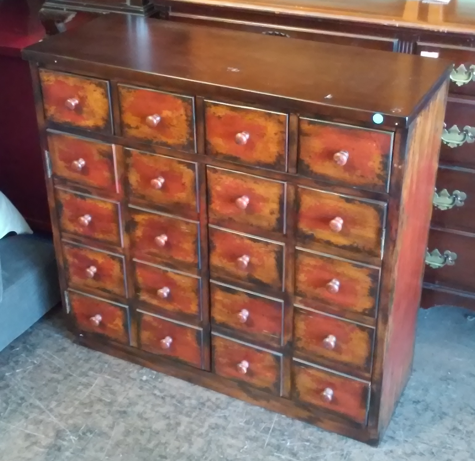 UHURU FURNITURE & COLLECTIBLES: SOLD #3081 3' Apothecary