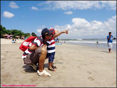 keindahan pantai kuta Bali