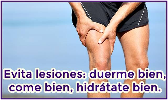 Evita las lesiones por culpa de la fatiga muscular