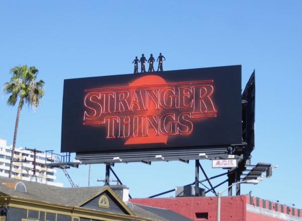 Stranger Things 2 neon sign billboard daytime