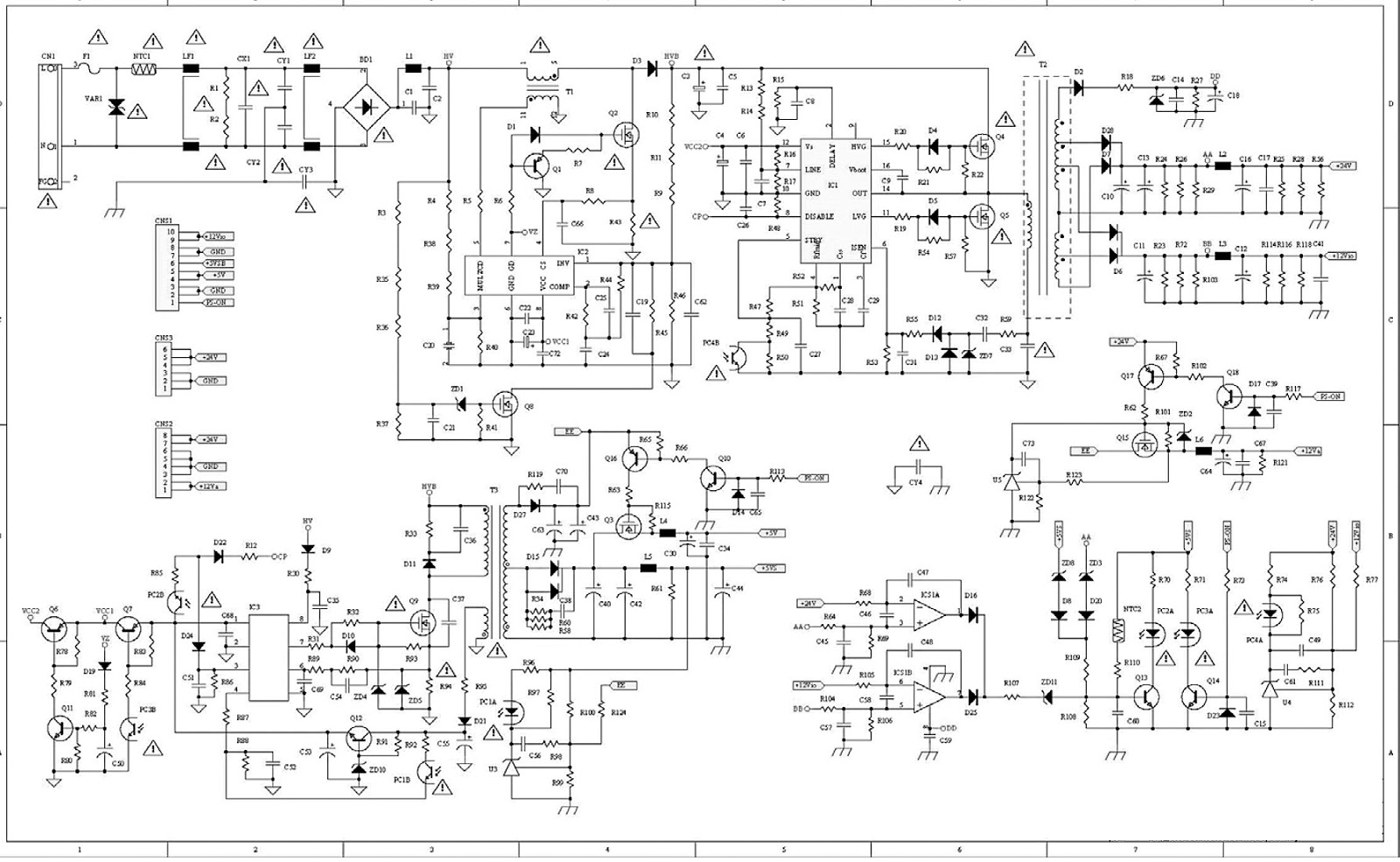 Changhong Ls01 Lcd Tv Smps Schematic Fsp205 5e01 Electro Help Dvd S1700 Power Supply Circuit Diagram And Connector Voltages