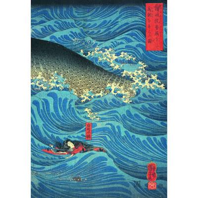 Minamoto no Tametomo sauvé par l'empereur Sutoku