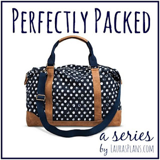 Perfectly Packed: A Series on packing perfectly organized bags at LaurasPlans.com